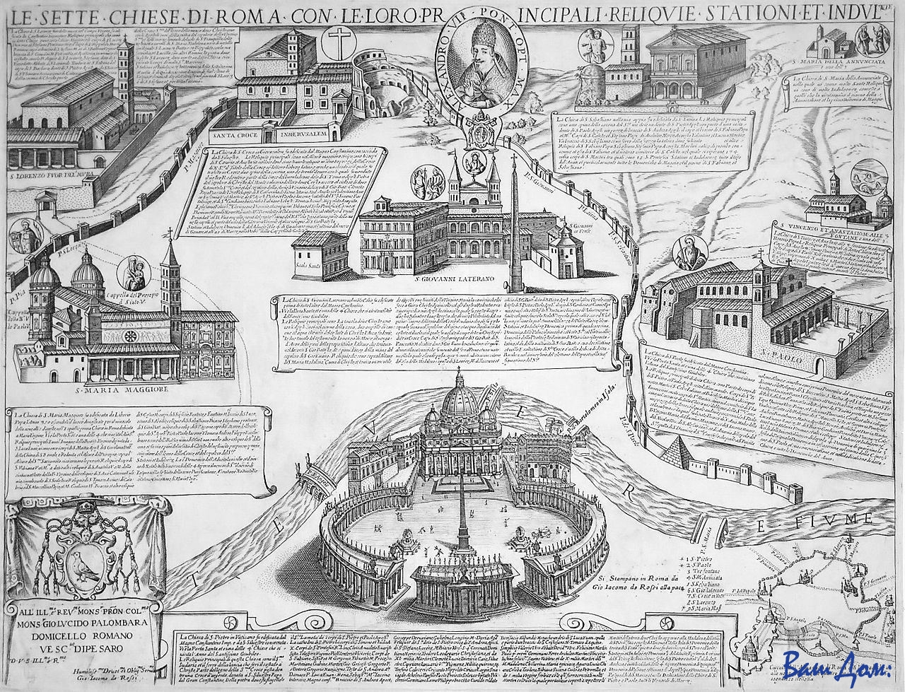 Юбилей-Seven_Churches_of_Rome_-_Giacomo_Lauro_-_1599