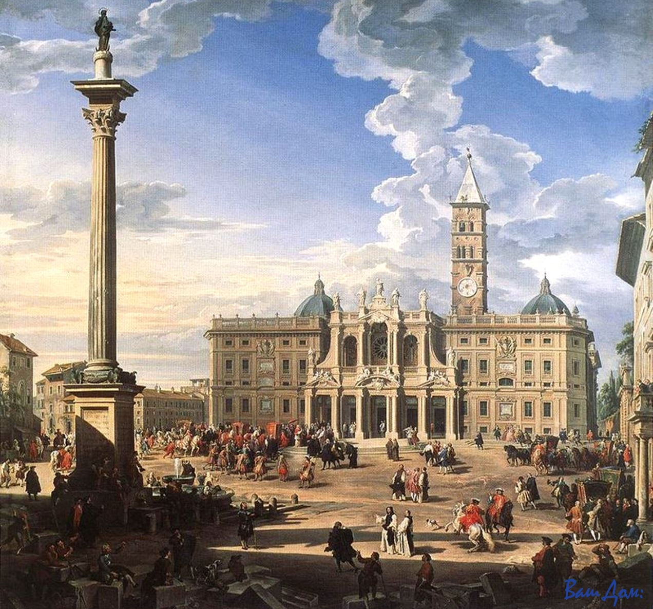 Юбилей Giovanni_Paolo_Pannini_-_The_Piazza_and_Church_of_Santa_Maria_Maggiore
